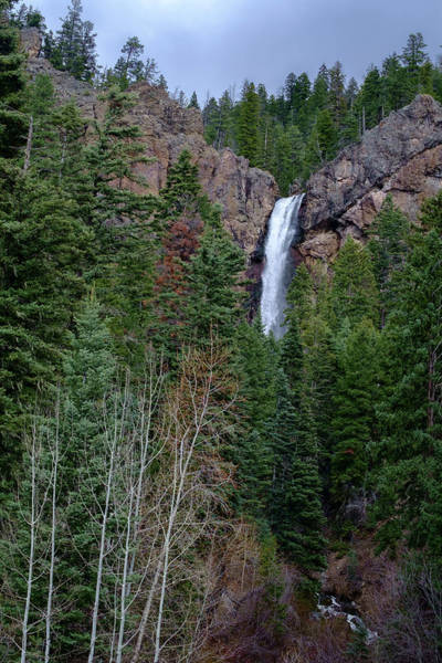 Photograph - Waterfall Near South Fork Colorado by Mary Lee Dereske