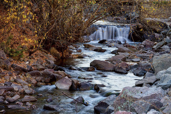 Photograph - Waterfall On Beautiful Boulder Creek by James BO Insogna