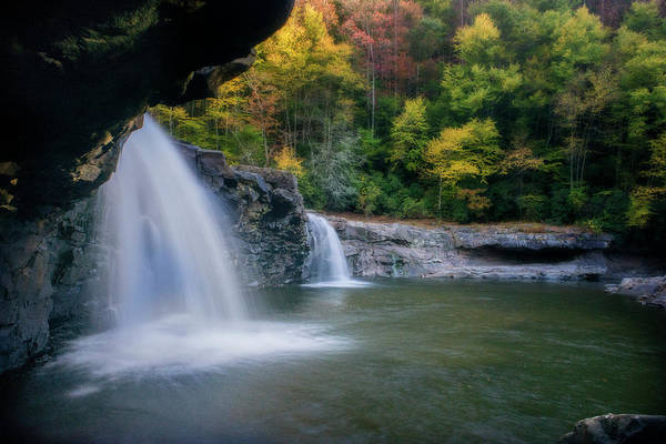 Photograph - Waterfall On Shaver Fork River In The Fall by Dan Friend