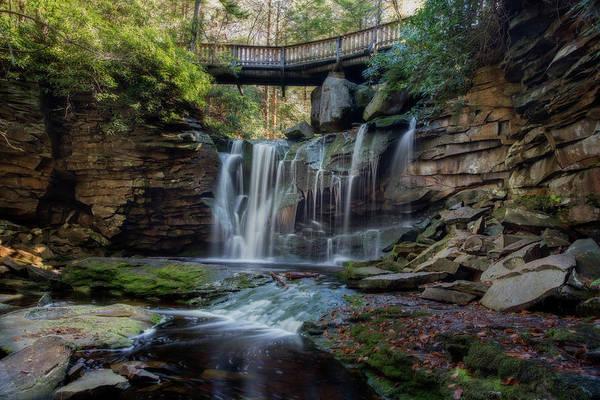 Photograph - Waterfall On Shays Run Elakala Falls by Dan Friend