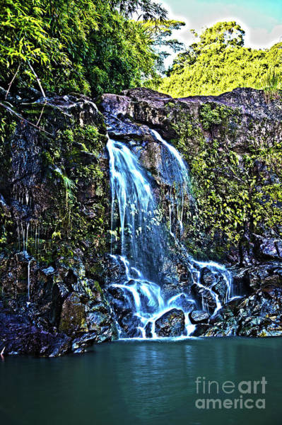 Wall Art - Photograph - Waterfall On The Road To Hana Maui Hawaii by ELITE IMAGE photography By Chad McDermott