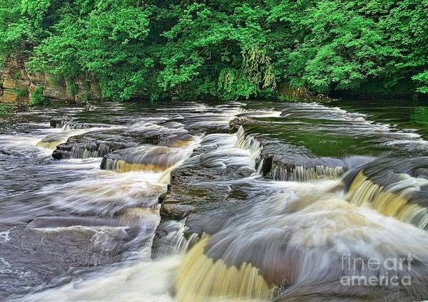 Photograph - Waterfall, Richmond Yorkshire by Martyn Arnold