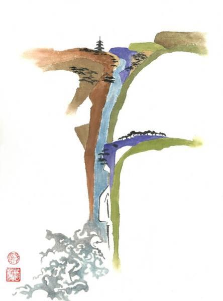 Wall Art - Painting - Waterfall by Terri Harris