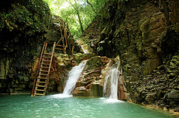 Puerto Plata Photograph - Waterfalls Damajagua River by Debbie Oppermann