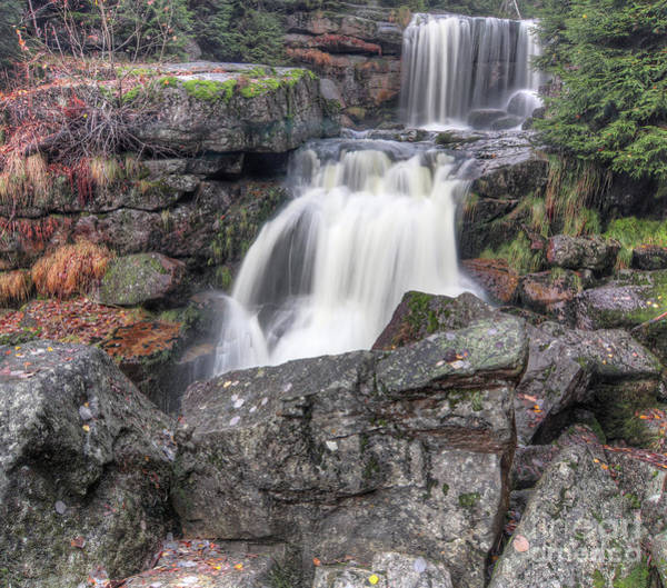 Wall Art - Photograph - Waterfalls On Jedlona Creek In Autumn by Michal Boubin