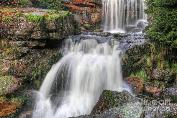 Wall Art - Photograph - Waterfalls On The Jedlova River by Michal Boubin