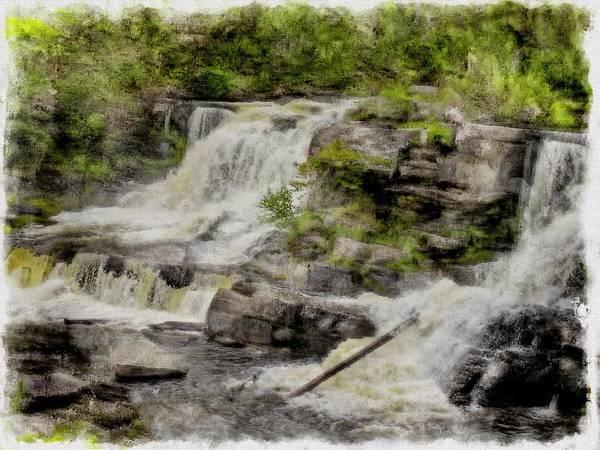 Digital Art - Waterfalls by Rusty R Smith