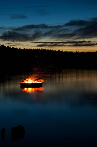 Cachalot Wall Art - Photograph - Waterfire, I by Dennis Wilkinson