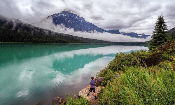 Photograph - Waterfowl Lake Banff Alberta Canada by Joan Carroll