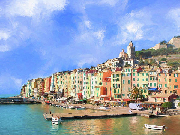 Painting - Waterfront At Porto Venere by Dominic Piperata