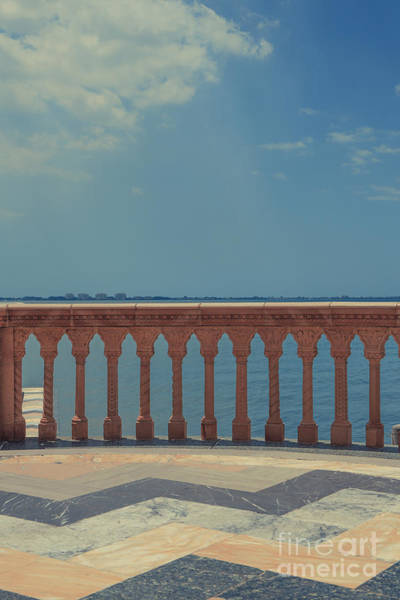 Baluster Wall Art - Photograph - Waterfront Balcony Ringling Ca D Zan The Last Of The Gilded Mansions by Edward Fielding