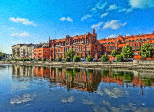 Painting - Waterfront Bydgoszcz - Pol904093 by Dean Wittle