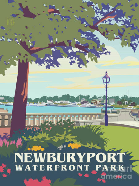 Wall Art - Painting - Waterfront Park, Newburyport, Ma by Leslie Alfred McGrath