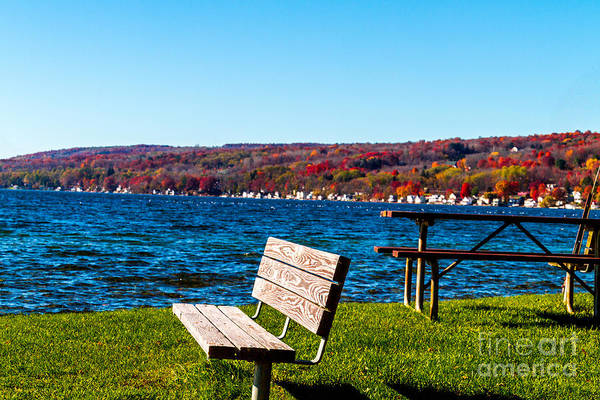 Photograph - Waterfront Seating by William Norton