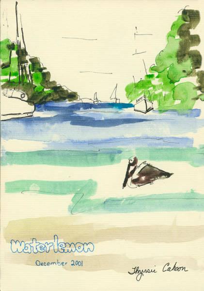 Us Virgin Islands Painting - Waterlemon  by Thyrsie Cahoon