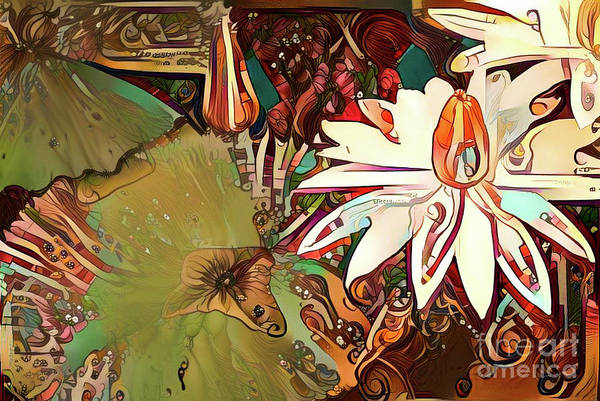 Lilly Pad Digital Art - Waterlilies 11 by Amy Cicconi