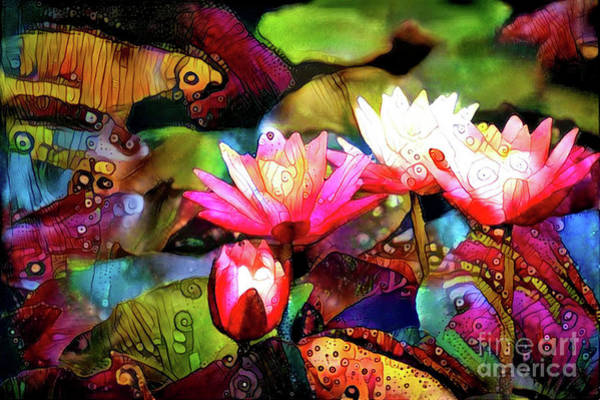Lilly Pad Digital Art - Waterlilies 13 by Amy Cicconi
