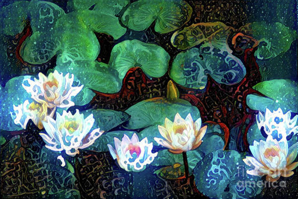 Lilly Pad Digital Art - Waterlilies 17 by Amy Cicconi