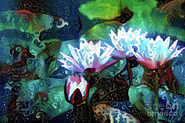 Lilly Pad Digital Art - Waterlilies 18 by Amy Cicconi