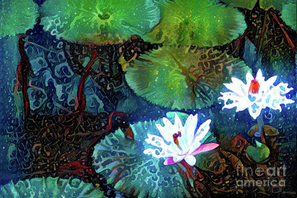 Lilly Pad Digital Art - Waterlilies 19 by Amy Cicconi