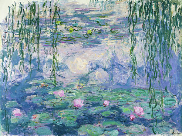 Wall Art - Painting - Waterlilies 1916-1919 by Claude Monet