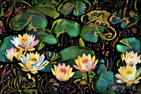 Lilly Pad Digital Art - Waterlilies 2 by Amy Cicconi