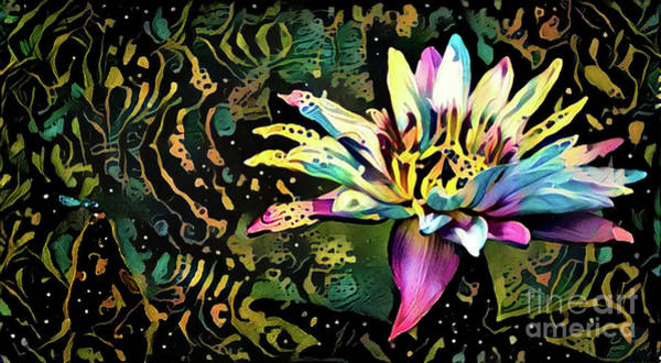Lilly Pad Digital Art - Waterlilies 3 by Amy Cicconi