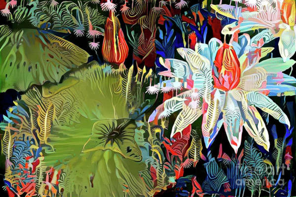 Lilly Pad Digital Art - Waterlilies 9 by Amy Cicconi
