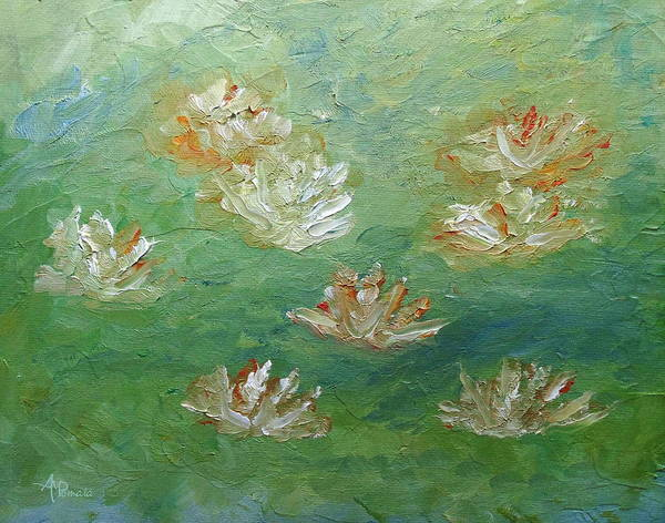 Painting - Waterlilies Abstract by Angeles M Pomata