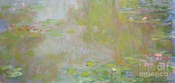 Giverny Painting - Waterlilies At Giverny by Claude Monet
