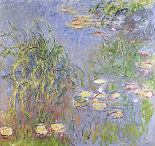 Wall Art - Painting - Waterlilies, Cluster Of Grass by Claude Monet