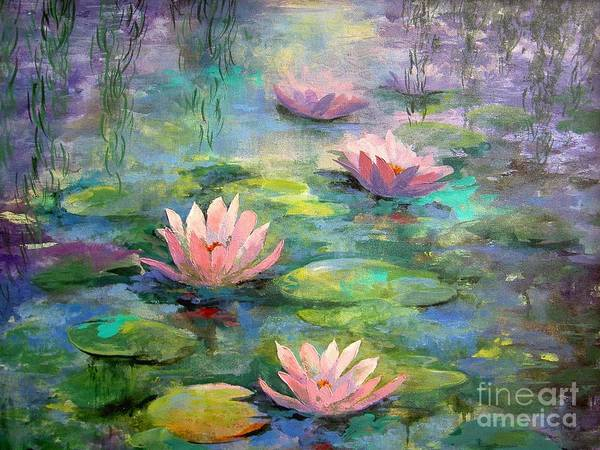 Waterlily Painting - Waterlilies by Madeleine Holzberg