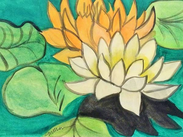 Painting - Waterlilies by Monica Martin