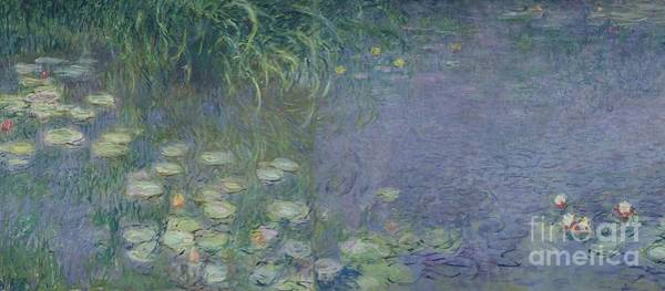 Nympheas Wall Art - Painting - Waterlilies Morning by Claude Monet