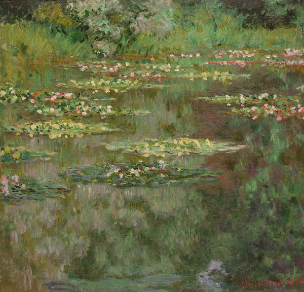 Wall Art - Painting - Waterlilies Or The Water Lily Pond by Claude Monet