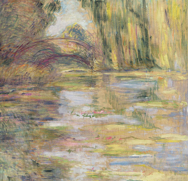 Wall Art - Painting - Waterlily Pond, The Bridge by Claude Monet