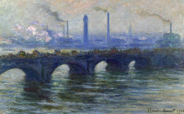 Atmospheric Painting - Waterloo Bridge, London, 1900 by Claude Monet