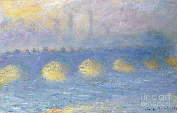 Wall Art - Painting - Waterloo Bridge, Temps Couvert, 1904 by Claude Monet