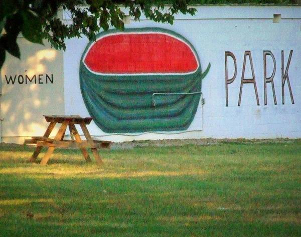 Watermellon Wall Art - Photograph - Watermellon Park by Michael L Kimble