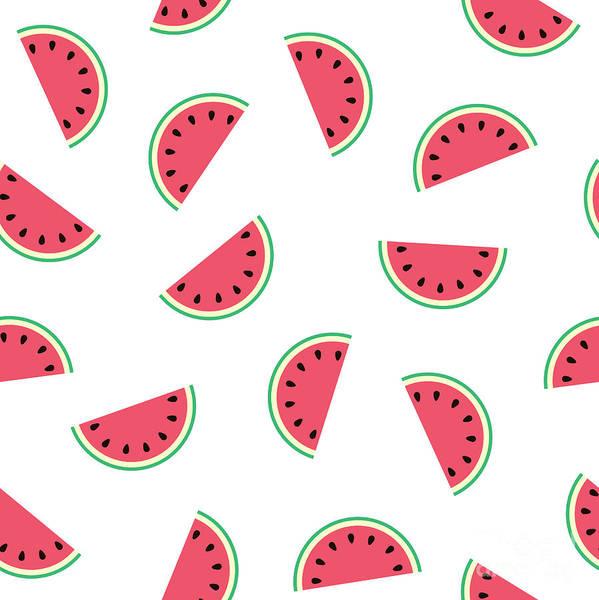 Juicy Drawing - Watermelon by Alina Krysko