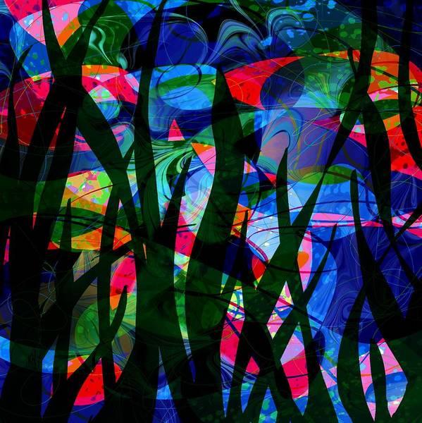 Aquatic Digital Art - Watermelon And A Swim by Rachel Christine Nowicki