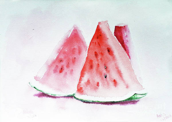 Painting - Watermelon Slices by Asha Sudhaker Shenoy