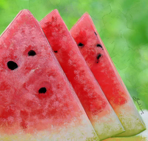 Painting - Watermelon Slices by Sannel Larson