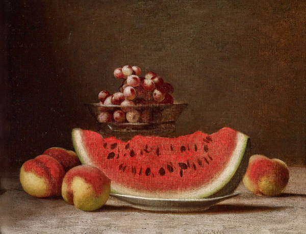 Apple Peel Painting - Watermelon Still Life by Barton Stone Hays