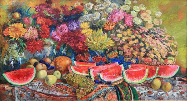 Painting - Watermelon Symphony by Maya Gusarina