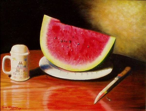 Painting - Watermelon Time by Gene Gregory