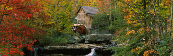 Babcock Photograph - Watermill In A Forest, Glade Creek by Panoramic Images