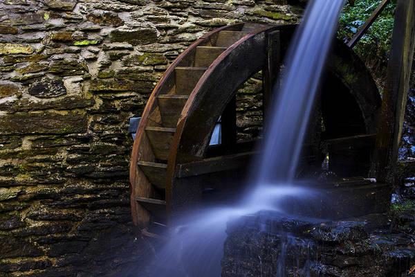 Photograph - Watermill Wheel by Ivan Slosar