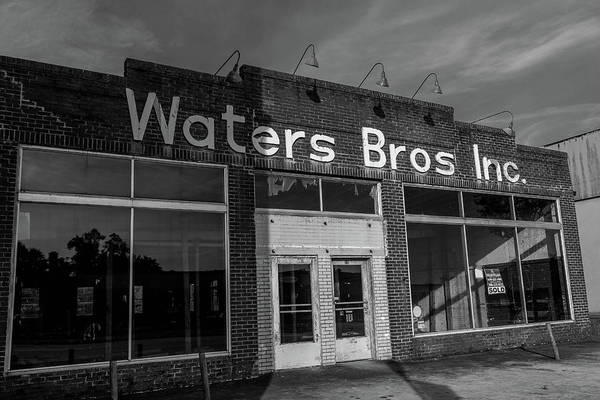 Photograph - Waters Bros Inc. In Bw by Doug Camara