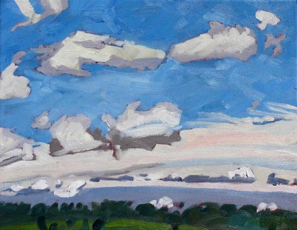 Wall Art - Painting - Watershed Farm Cumulus Fractus by Phil Chadwick